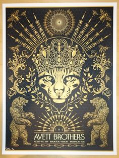 "The Avett Brothers - silkscreen concert poster (click image for more detail) Artist: Todd Slater Venue: Waterfront Park Location: Burlington, VT Concert Date: 8/9/2014 Size: 18"" x 24"" Edition: 200; nu"