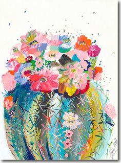 Desert Series III, Starla Halfmann, oil, print, giclee, fine art, skyline, cactus