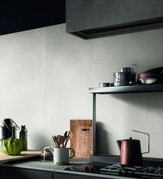 Calca Bone porcelain tiles from the Stone and Ceramic Warehouse. Wood Plank Tile, Wood Planks, Stone Look Tile, Unique Tile, Tile Design, White Wood, Floating Shelves, Kitchen Design, Flooring