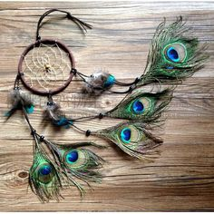 Peacock Feathered Dream Catcher