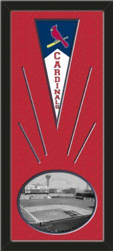 St. Louis Cardinals Wool Felt Mini Pennant & Sportsman 's Park- Sepia Photo - Framed With Team Color Double Matting In A Quality Black Frame-Awesome & Beautiful-Must For A Championship Team Fan! Most NFL, MLB, NBA, Teams Available-Plz Mention In Gift Message If Need A different Team Art and More, Davenport, IA http://www.amazon.com/dp/B00I1D9G1M/ref=cm_sw_r_pi_dp_lqtEub1XX6PZB