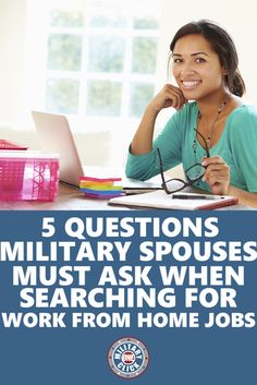 Questions for work from home jobs-- with a job posting specifically for #milspouses and #veterans!