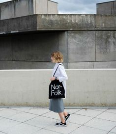 Nor–Folk Basics Black Tote Bag http://www.nor-folk.com/product/nor-folk-basics-black-tote-bag/ White option also available #Nor_Folk #minimalist #graphicdesign #type #tote