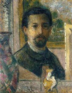 Self Portrait with Statuette - Gustave Loiseau Gustave Loiseau,  Born: 03 October 1865; Paris, France Died: 10 October 1935; Paris, France  Wikipedia article http://en.wikipedia.org/wiki/Gustave_Loiseau