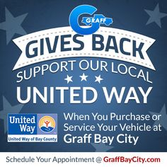 Graff Bay City will Support the United Way of Bay County for #GraffGivesBack