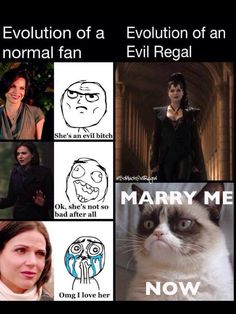 This was all Evil Regals when the Evil Queen walked in.