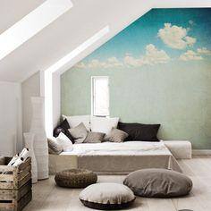 Fotomurale Finestra nel cielo  - ispirazioni , galleria d'interni • PIXERS.it