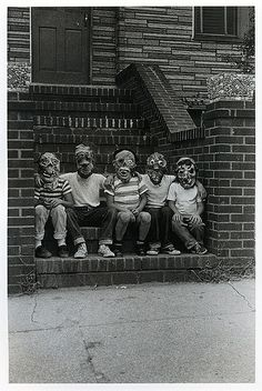 Arbus, Diane (1923-1971) - 1961 Five Members of the Monster Fan Club, NYC, via Flickr.