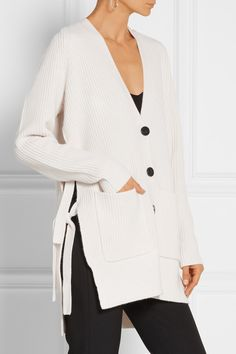 Proenza Schouler | Tie-side wool and cashmere-blend cardigan | NET-A-PORTER.COM