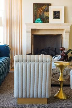 Megan Tagliaferri From FLO Design Studios Long Beach Home Living Room Accent Chairs