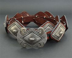 Silver Concho Belt by Rick Martinez (Navajo)