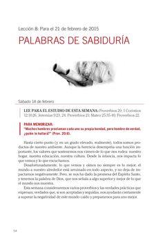 Leccion adultos palabras de sabiduria by Escuela Sabatica via slideshare #LESAdv Descargue aqui: http://gramadal.wordpress.com/