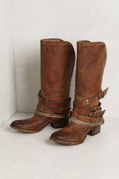 Find these riding boots at Anthropologie, I love the multiple buckle detailing.
