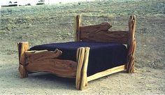 Juniper Log Bed w/ Slab Head & Foot Boards