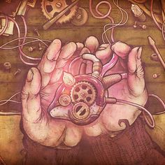 Kyros - Box Humana - album cover back  #kyros #albumcover #artistforhire #bandart #freelanceartist