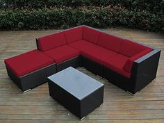 Ohana Collection 6-Piece Outdoor Patio Wicker Sofa Set, Sunbrella Red, http://www.amazon.com/dp/B00NC4Z8HQ/ref=cm_sw_r_pi_awdm_NKTdvb05SB84D