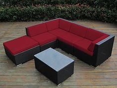 Ohana Collection 6-Piece Outdoor Patio Wicker Sofa Set, Sunbrella Red, http://www.amazon.com/dp/B00NC4Z8HQ/ref=cm_sw_r_pi_awdm_NKTdvb05SB84D