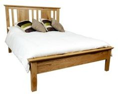 HEREFORD RUSTIC Oak 5ft King Size Bed Frame