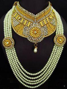 indian polki bridal jewelery set by jewelleryfashionable on Etsy, $489.40
