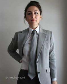 Women Ties, Suits For Women, Clothes For Women, Beautiful Girl Photo, Androgynous, Well Dressed, Women Empowerment, Girl Photos, Claire