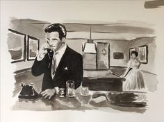 Montgomery Clift and Elizabeth Taylor, A place in the sun 1951 Ink sketch Montgomery Clift, Elizabeth Taylor, Sketch, Ink, Fictional Characters, Sketch Drawing, Sketches, India Ink, Fantasy Characters