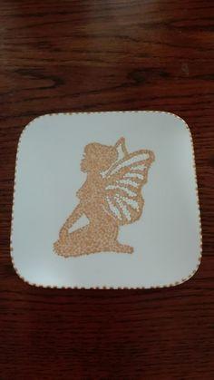 Gestipt flower fairy bordje ~ handmadebydianez