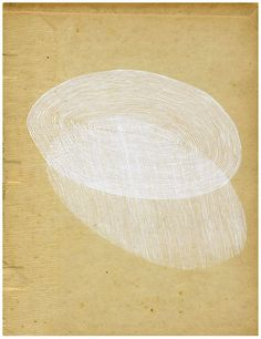 O joy of simplicity. Olivia Jeffries, 'an absolute ending' gouache on an old book page (via @drawdrawdraw)