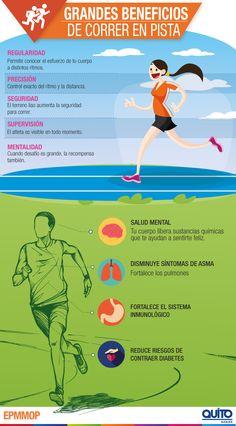 Grandes Beneficios de correr en pista atlética - EPMMOP