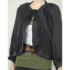 Development Blouson Sleeve Womens Jackets Blk Siz 2