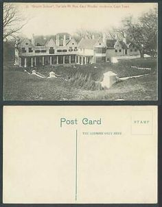 South Africa Old Postcard Groote Schuur, Late Cecil Rhodes's Residence Cape Town   eBay