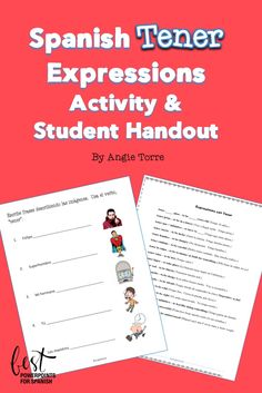 Need an activity to supplement your lesson on Spanish Tener Expressions? Here are activities and Student Handout with 17 Spanish Tener expressions: tener años, tener prisa, tener que + infinitivo, tener ganas de + infinitivo, tener suerte, tener hambre, tener cuidado, tener la culpa, calor, lugar, sed, sueño, miedo, frío, razón, éxito, vergüenza. The expressions are used in sentences so students can see them in context. Students describe the images.