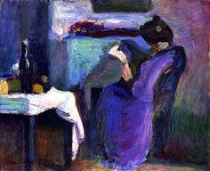Lectura Mujer con vestido violeta, 1898 Henri Matisse