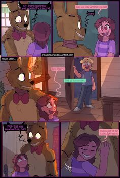 Springtrap and Deliah p116 by GraWolfQuinn