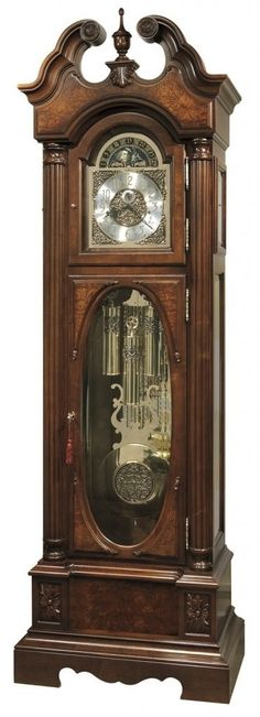 Grandfather clock- I'd like the clock face to be pretty large and the top of the piece.  This is almost exact to the clock that my dad would climb into while sleepwalking.