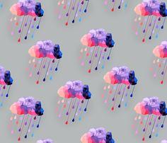 purple rain fabric by jillofalltrade5 on Spoonflower - custom fabric