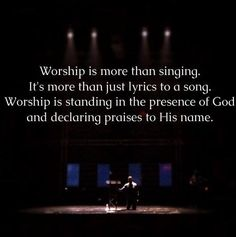 Worship is more than singing. #SDRock