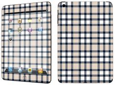 Amazon.com: Tan, Blue and White {Checker Plaid} Front and Back Full Body Adhesive Vinyl Decal Sticker for iPad Mini 1st Generation Models A1432, A1454 and A1455 (No Air Bubbles - Removable Residue Free Skin}: Computers & Accessories