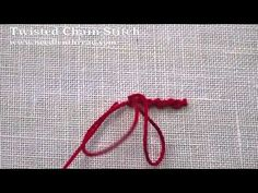 Twisted Chain Stitch - YouTube