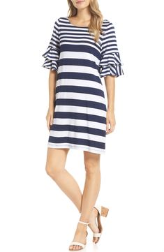 New Lilly Pulitzer Lula Shift Dress Best Seller Womens fashion clothing. offers on top store Jeans Dress, Jacket Dress, Vacation Dresses, Summer Dresses, Nordstrom Dresses, Lilly Pulitzer, Fashion Dresses, Women's Fashion, Dresses With Sleeves