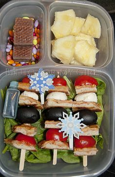 Pizza Kabobs in our lunch box