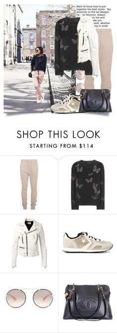 """""""Blogger Style - On Dublin Street.."""" by hattie4palmerstone ❤ liked on Polyvore featuring Anouska London Jewellery, Balmain, Valentino, Yves Saint Laurent, Converse, Prada and Chanel"""