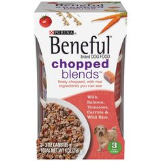 Purina's Beneful Chopped Blends - With Salmon, Tomatoes, Carrots and Wild Rice - 3.0 Oz Can - 3 Can Pack -- Want additional info? Click on the image. (This is an affiliate link and I receive a commission for the sales)