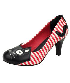 284daecc6c White Red Stripe Kitty Heels TUK Shoes - Tragic Beautiful buy online from  Australia