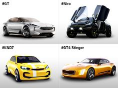 Over the years, #Kia has introduced concept cars that are experimental, fun, and sporty, but most of all - innovative. We are taking a moment to highlight 4 of Kia's most recent concept cars. Which one is your favorite? #GT #Niro #KND7 #GT4  http://kia-buzz.com/top-4-concept-cars/