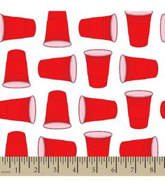 Snuggle Flannel Fabric-Red Party Cup