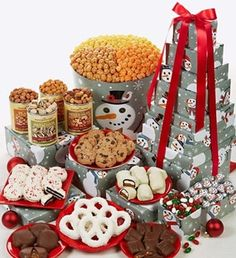 #Dessert Snowtime Tin & Tower - 10-Tier Tin & Tower from #ThePopcornFactory via Catalog Spree $129.99