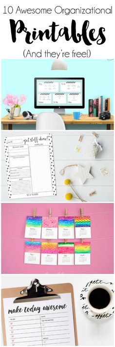 10 Awesome Organizational Printables (FREE!) | DawnNicoleDesigns.com