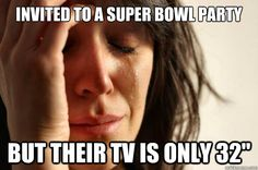 First World Problems 1   This is an economic problem because it is showing someone complaining that other people's unessential item (TV) isn't as good ( or big ) as they wanted it to be.
