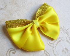 Belle hair bow disney princess costume dress by JaybeePepper, $6.00
