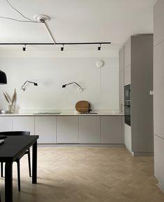Kitchen Dinning Room, Kitchen Layout, Kitchen Living, Kitchen Decor, Küchen Design, House Design, Kitchen Stories, Kitchen Cupboards, Decor Interior Design
